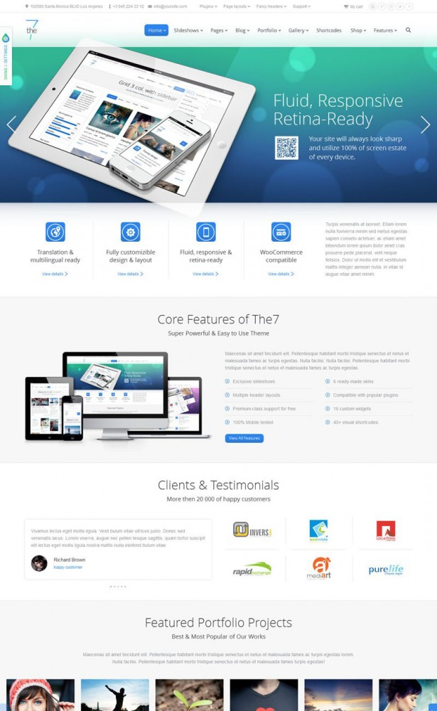 wordpress the7 preview full